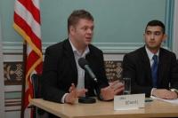 Britský romský novinář Jake Bowers a József Rostáš z Maďarska (Foto: Jana Šustová)