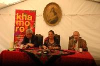 Ladislav Goral, Olga Fečová a Karel Holomek při setkání O minulosti a současnosti jinak (Foto: Jana Šustová)