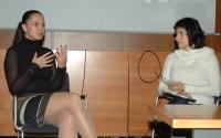 Alica Heráková na besedě s Janou Horváthovou (Foto: Jana Šustová)