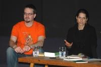 Daniel Soukup a Alena Scheinostová v MeetFactory (Foto: Jana Šustová)