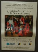 Plakát na představení o Cikánech, žluvě a strašném drakovi