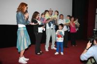 Paterčata s rodiči a příbuznými na tiskové konferenci k televiznímu dokumentu (Foto: Jana Šustová)