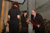 Redaktorka romského vysílání Českého rozhlasu Iveta Demeterová získala cenu Roma Spirit v kategorii Média (Foto: Jana Šustová)