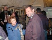 Eva Davidová a Arne Mann na vernisáži výstavy v Galerii U zlatého kohouta
