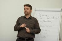 Tomáš Svoboda na projektu Prethodžipen – Překlad (Foto: Jana Šustová)