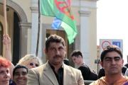 Demonstrace slovenských Romů před parlamentem v Bratislavě (Foto: Vojtěch  Berger)