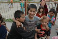 Romské děti z Rudňan (Foto: Jana Šustová)