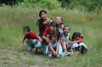 Děti z romské osady Rudňany na Slovensku (Foto: Jana Šustová)