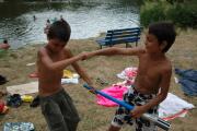 Romské děti na letním táboře pořádaném o.p.s. Romodrom (Foto: Jana Šustová)