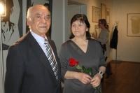 Andrej Giňa s manželkou na prezentaci knihy Paťiv. Ještě víme, co je úcta (Foto: Jana Šustová)