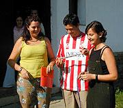 Jana Tikalová (vlevo) se Španěly