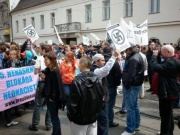Odpůrci neonacistů v Brně (Foto: Ivan Holas)