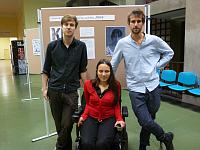 Roma Week organizers: David Hájek, Karolína Chloubová and Adam Podhola, photo: Masha Volynsky