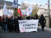 Policie doprovázela pochod pravicové DSSS (Foto: Gabriela Hauptvogelová)