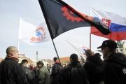 Stoupenci Dělnické strany sociální spravedlnosti v Novém Bydžově