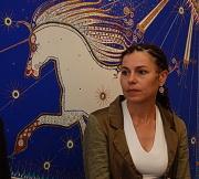 Katarzyna Pollock na vernisáži v Praze