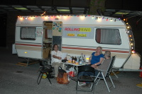 RollingHome před mnichovským Gasteigem (Foto: Jana Šustová)