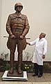 Socha generála Pattona a Jaroslav Brocker, foto: Autor