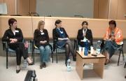Absolventi Katedry sociální práce na konferenci Profesní příběh. Druhá zprava: Jana Kosová (Foto: Jana Šustová)