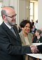 M. Cazenave, proviseur du Lyce Carnot de Dijon et Mme Uturald-Giraudeau, proviseure du Lyce Alphonse Daudet de Nmes, photo: Barbora Kmentov