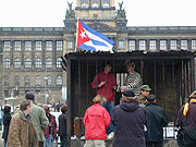 The symbolic jail cell on Wenceslas Square