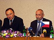 Vizepremiere Pal Csaky und Petr Mares