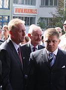 Mirek Topolanek, Premysl Sobotka and Robert Fico