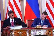 Barack Obama et Dmitri Medvedev
