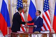 Barack Obama und Dmitri Medwedew (Foto: Štěpánka Budková)