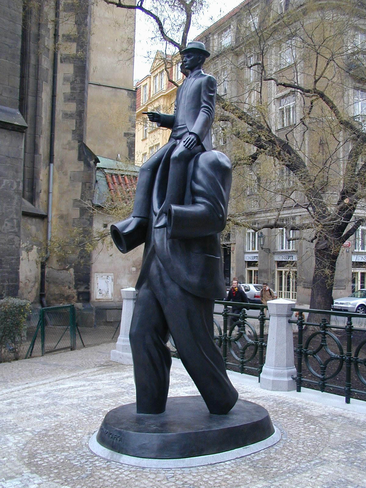 en section arts eighty years after his death franz kafka finally has a statue in prague