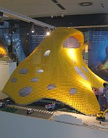 Модель проекта Национальной библиотеки, собранная из конструктора, Фото: Вирджиния Варгольская, Чешское радио - Радио Прага