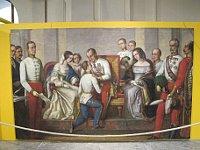 Gemälde stellt den Akt der Übergabe der Regierungsgeschäfte an Franz Joseph dar (Foto: Martina Schneibergová)