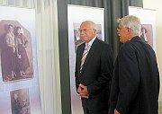 Prezident Václav Klaus na výstavě