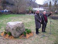 Grundstein für den Pavillon der Risensalamander, Miroslav Bobek und Ivan Horáček (Foto: Martina Schneibergová)