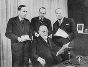Karel Čapek (left), František Křižík (front)