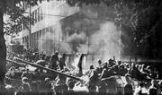 El 21 de agosto de 1968, calle Vinohradská, Praga