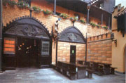 The restaurant yard