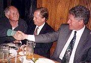 Bohumil Hrabal, Vaclav Havel, Bill Clinton, photo: www.uzlatehotygra.cz