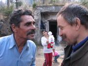 Gejza Horváth (vlevo) - hlavní hrdina filmu Romský král