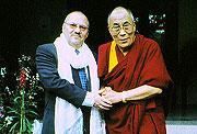 Dr Ian Hancock with Dalai Lama
