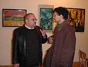 Ian Hancock (vlevo) během návštěvy v Muzeu romské kultury