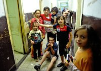 Romové z městské ubytovny ve Varnsdorfu (Foto: Filip Jandourek)