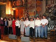 Vánoční setkání klientů Teen Challenge a jejich příbuzných v Trojském zámečku