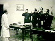 A picture from a film made of an LSD experiment conducted with soldiers at Stresovice military hospital around 1967