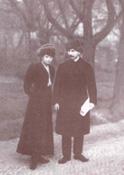 Jaroslav Hašek se svou ženou Jarmilou Mayerovou