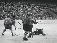 Spiel zwischen Dynamo Pardubice und Červená hvězda Brünn in 1959