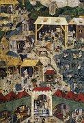 Illuminierte Handschrift, die den Kuttenberger Silberbergbau zeigt