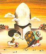 Ilustración de Květa Pacovská en la novela fantástica Momo