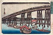 """Cuadro """"Fresco nocturno bajo el puente Ryogoku"""""""