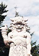 Каменная статуя языческого бога Радегаста на вершине горы Радгошть